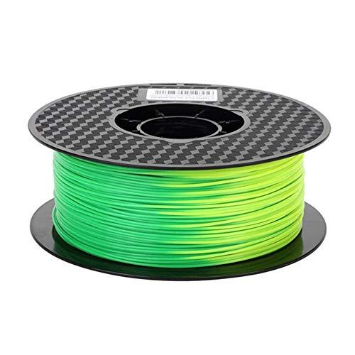 PLA-Farbwechselfilament 1,75 mm, 3D-Druckerfilament 1kg, Änderung mit Temperatur-Grün bis gelb