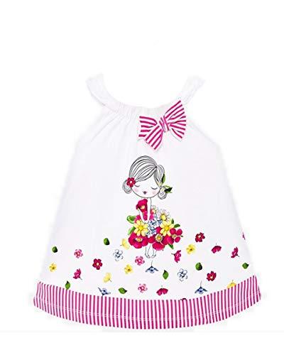 Mayoral Vestido con estampado de niña fucsia 68 cm(6 meses)