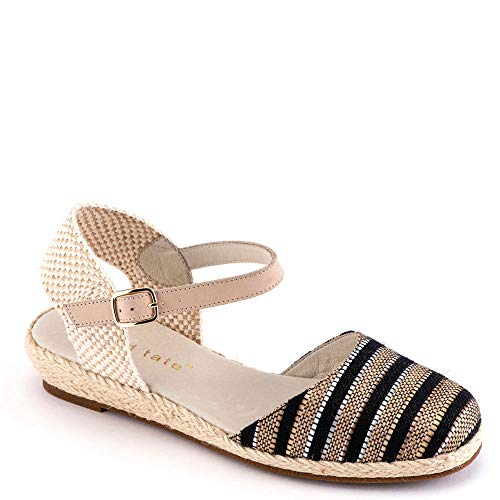 David Tate Juno Women's Sandal 8.5 C/D US Black-Tan-Stripe