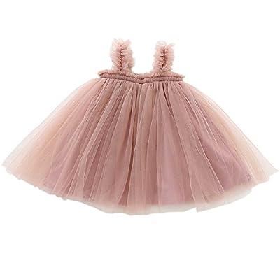 LYXIOF Baby Girls Tutu Dresses Sleeveless Princess Dress Infant Tulle Dress Toddler Sundress Pink 12 Months