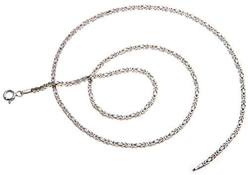 Königskette 2mm, Silberkette - Länge wählbar 38-120cm - echt 925 Silber