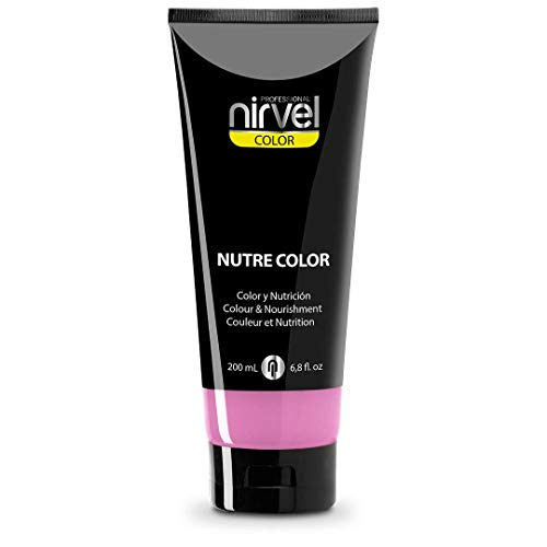 Nirvel NUTRE COLOR FLUOR Chicle 200 mL Mascarilla Profesional - Coloración temporal - Nutrición y brillo