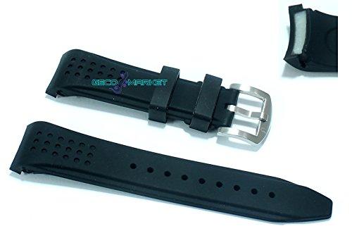 Cinturino in gomma nero per orologio ansa rinforzata 22mm tipo nautica...