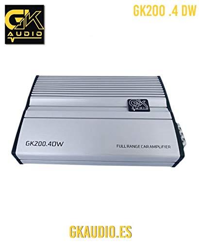 GK Audio 200.4 DW Amplificador para Coche SPL COMPETICIÓN (Competition) Car Hi-Fi;...