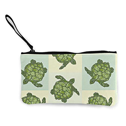 XCNGG Geldbörsen Shell Aufbewahrungstasche Women's Wristlet Wallet Clutch for Smartphones with Wrist Strap Card Coin Purse Case - Seaturtle Sea Turtle