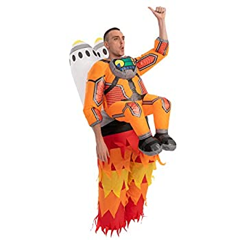 Spooktacular Creations Inflatable Halloween Costume Jet Pack Astronaut Inflatable Costume with Rockets - Adult Unisex One Size
