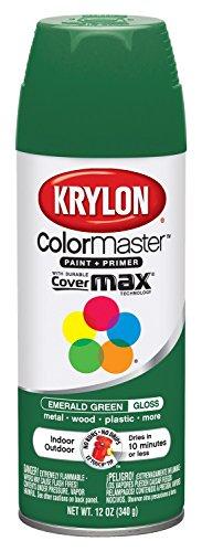 Krylon K05201607 ColorMaster Paint + Primer, Gloss, Emerald Green, 12 oz.