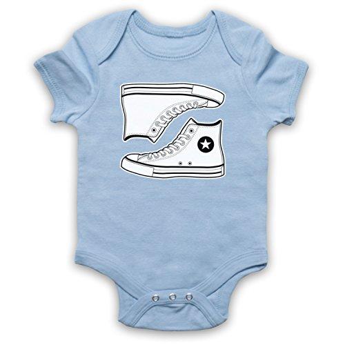 My Icon Art & Clothing Allstars Basketball Shoes Bebé Body, Azul Cielo,...
