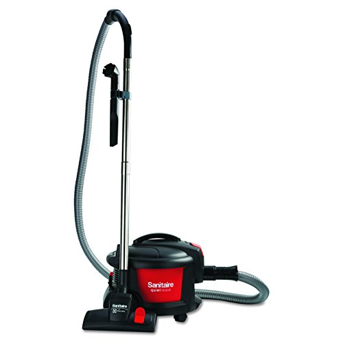 Sanitaire SC3700A Quiet Clean Canister Vacuum, Red/Black, 9.0 Amp, 11' Cleaning Path