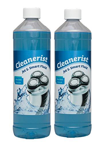 2x1 Liter Cleanerist Jet & Smart Fluid Reinigungsflüssigkeit geeignet für Philips Rasierer S9711/31 S9111/41 - S9521/31 - S9161/41 - S9711/32 - S9111/31 - S9041/12 - S9031/12