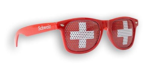 Promo Trade WM Fanbrille - Schweiz Doppellogo - Sonnenbrille - Fan Artikel