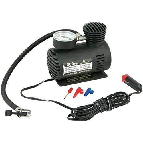Dc12V 300Psi inflador de neumáticos de coche Auto Mini compresor de aire bomba de neumáticos con manómetro para coche bicicleta motocicleta bola