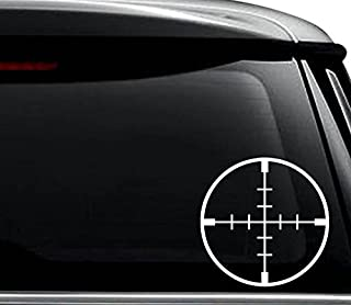 Sniper Crosshairs Scope Target Decal Sticker For Use On Laptop, Helmet, Car, Truck, Motorcycle, Windows, Bumper, Wall, and Decor Size- [6 inch] / [15 cm] Tall / Color- Matte White