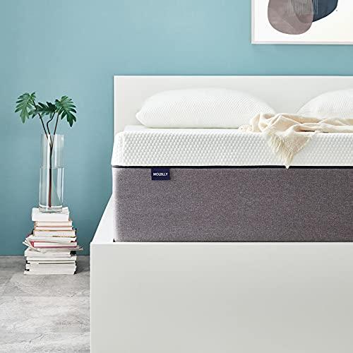 Molblly Matratze 90 x 190cm rollmatratze Matratze in Einer Kiste 7 Zonen Orthopädische 90 x 190cm kaltschaummatratze ergonomische Matratze für erholsamen Schlaf Matratze Höhe 15cm härtegrad H3
