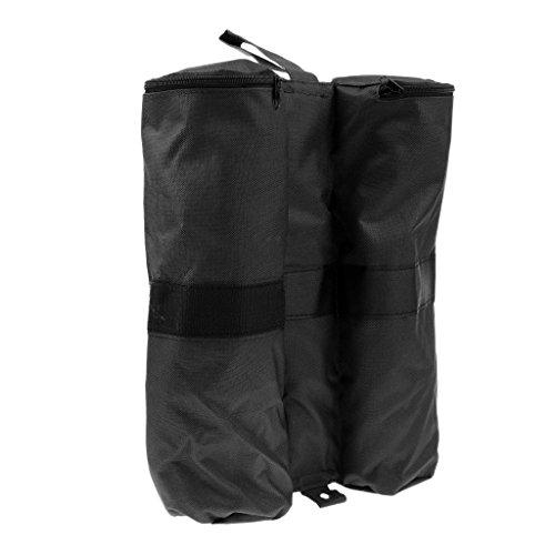 MagiDeal Sac de Sable Lestage Rond Etanche en Tissu Oxford 600D pour Jambe Pieds de Tente Tonnelle Extérieur - Noir, Taille Unique