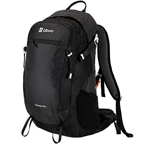Ubon Internal Frame Backpack Hiking Daypack for Hiking Camping Traveling Black