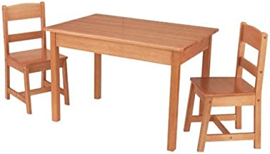 KidKraft Wooden Rectangular Table & 2 Chair Set For Kids - Natural