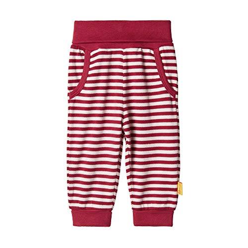 Steiff Baby-Mädchen Jogginghose Jeans, Rot (BEET RED 4010), 86 (Herstellergröße:86)