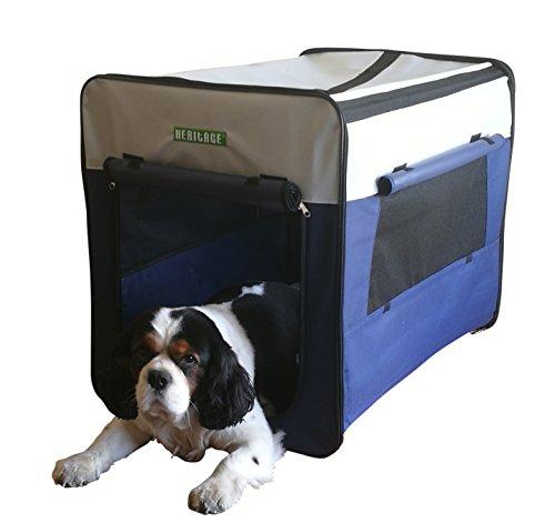 Transportín de tela para perros, plegable, con cama incluida, modelo 3055, de...