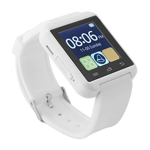 Wdckxy Hwj - Reloj de pulsera inteligente Bluetooth V3.0 + EDR (color: blanco)