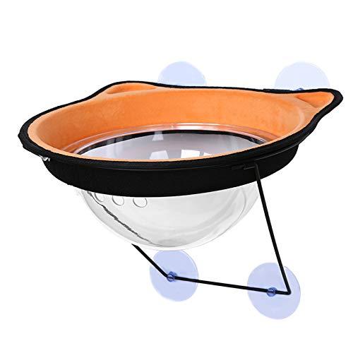LIUZKH Estantes de asiento para hamaca para gatos con perilla resistente, ahorra espacio y fácil de montar (naranja)