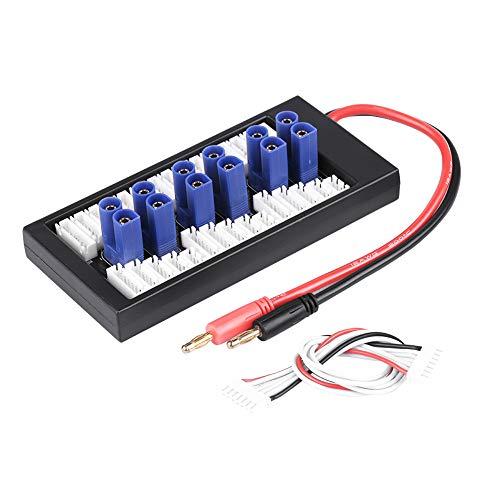EVTSCAN Cargador de batería Lipo, Accesorio RC 2S-6S Placa de expansión de Carga equilibrada paralela Enchufe EC5 Batería Lipo Paraboard para Cargador de batería RC