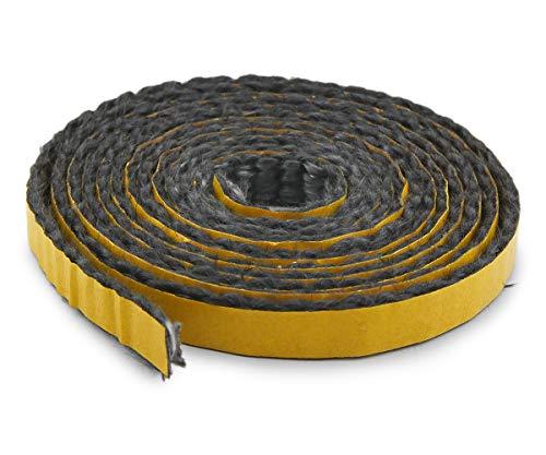 Kamindichtung selbstklebend 2m, ø 10x2mm Flach-Kordel Dichtband. Passend für verschiedene Justus Kamin Modelle