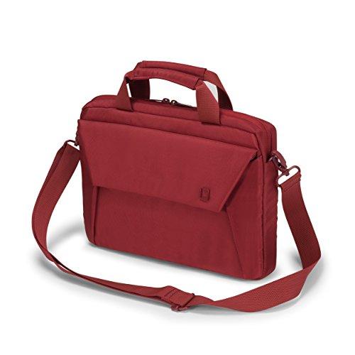 DICOTA Slim Case Edge, 10–11,6 Pulgadas, Funda Delgada para Ordenador portátil y Tablet, maletín Ligero, Bolsa para Ordenador portátil con Asas, roja