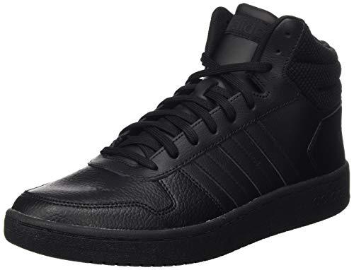 adidas Herren Hoops 2.0 Mid Basketballschuhe, Schwarz (Core Black/Core Black/Core Black Core Black/Core Black/Core Black), 42 EU (8 UK)