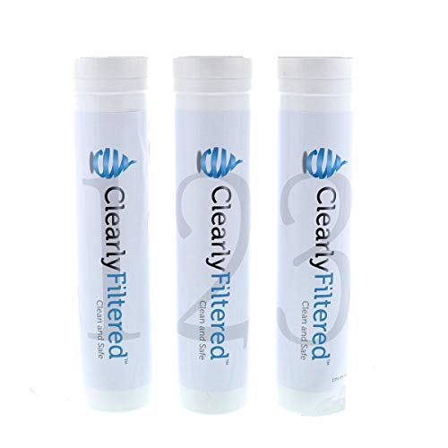 Clearly Filtered 3-Stage Under-the-Sink Replacement Filter: Removes up to 99.9% of Fluoride, 99.9% Lead, and 99.9% of Mercury and many more Tap Water Contaminants