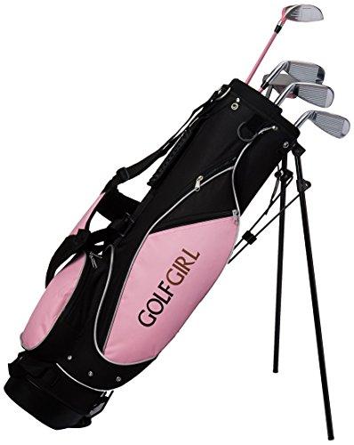 Buy Golf Girl Junior Club Set For Kids Ages 8 12 Rh W Pink Stand Bag Reteyuasade