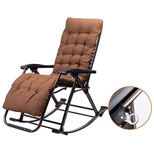 WYJW Opvouwbare schommelstoel - Outdoor Garden Sun Lounger Relaxer Recliner Draagbare Opvouwbare Camping Reisstoel Vissen Kruk (Kleur : Stoel+Bamboe mat)