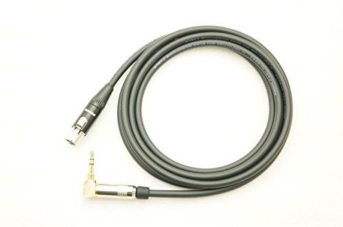 MOGAMI モガミ 2893 ヘッドフォンケーブル AKGタイプ (L型ステレオミニフォン-3PINミニXLR) ケーブルカラー: (1m, ブラック)