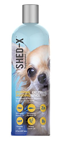 Shed-X Dermaplex Liquid Daily Supplement for Dogs – 100% Natural – Eliminate Excessive Shedding with Daily Supplement of Essential Fatty Acids, Vitamins and Minerals (8 oz)