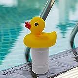 Watermelon Dispensador de cloro flotante plegable con diseño de pato flotante, duradero, dispensador de cloro flotante de gran capacidad, para piscinas interiores y exteriores