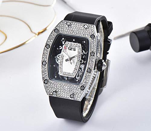 SANDA Relojes Mujer,Reloj de Moda de la Marca del Reloj del Cuarzo de la Serie del Diamante Artificial-5