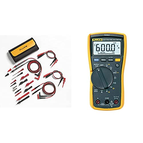 Fluke TL81A Test Lead Set, Deluxe Electronic,Red/Black,Small...