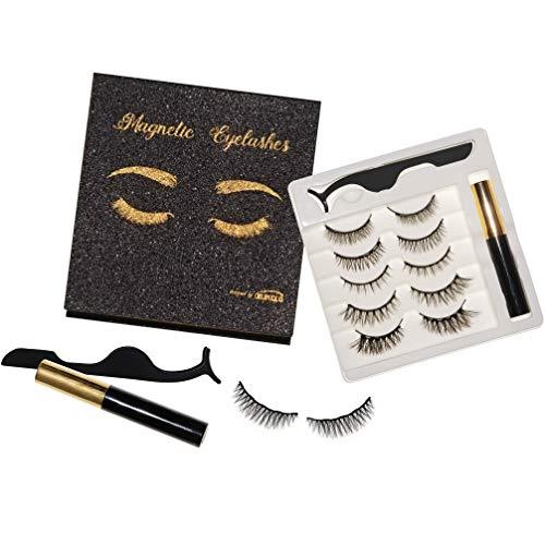 ZUMIKO - Magnetische Luxus Wimpern (5 Paar) mit magnetischem Eyeliner(5ml) und Applikator - ohne Kleber - individuell anpassbar - vegan - ohne Tierversuche - Designed in Germany