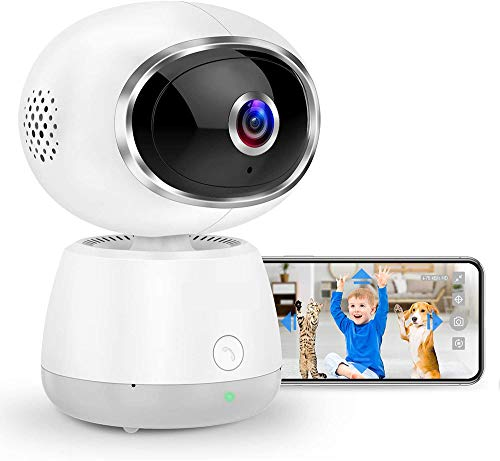 Dome Security Camera WiFi Home Security Camera Tilt Zoom IP Pet Camera 1080P Babyfoon met slimme bewegingsdetectie Beweging volgen Nachtzicht Audio WiFi Camera Indoor