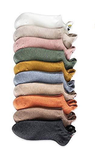 Samyth 10 Paare Zufällige Farbe Unisex Kawaii Expression Bestickte Socken Knöchel Lustige Socken Frauen Baumwolle Sommer Knöchel Socken