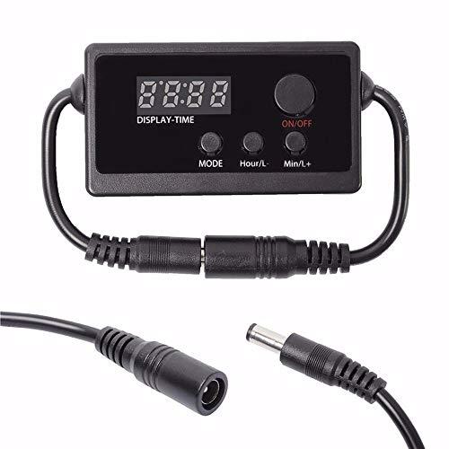 Pvnoocy Controlador de luz LED, regulador de luz de acuario, modulador de atenuador LED para tanque de peces programable