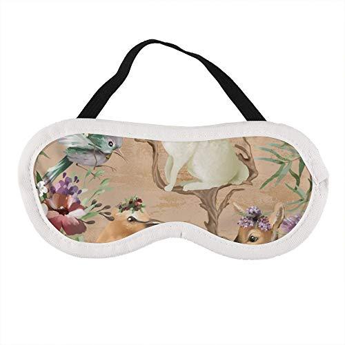 Draagbaar oogmasker voor mannen en vrouwen, Hummingbird herten en konijnen Het beste slaapmasker voor reizen, dutje, geven u de beste slaapomgeving