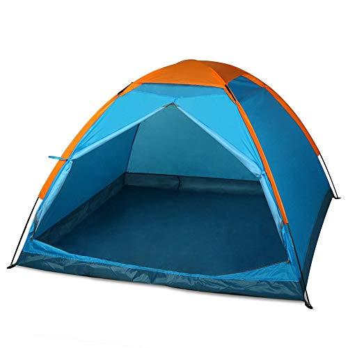RENXR Tente de Camping pour 5 à 6 Personnes 100% imperméable à l'eau 2500 mm Facile à Assembler Tissu Durable Couverture intégrale,Bleu