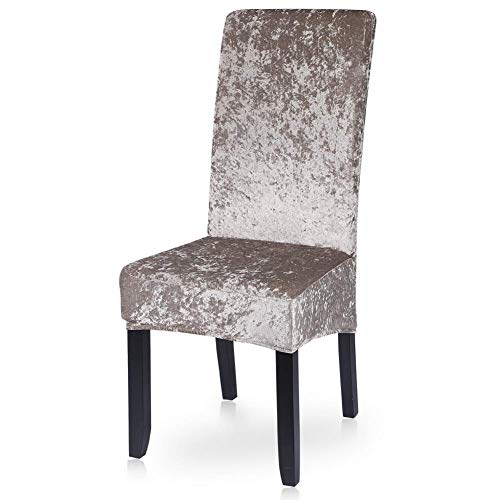 1/2/4/6 PCS Dining Chair Cover,Removable and Elastic Stretch Chair Cover,Removable and Washable Polyester Fabric Protective Cover for Dining Chair for Kids Pets Home Ceremony Banquet Wedding Party