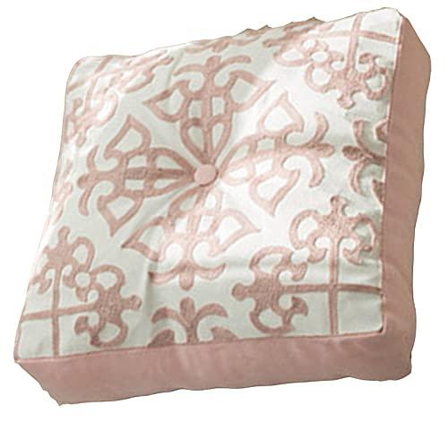 cuscino per panchina Cuscini Quadrati, Cuscini di Seduta Trapuntati, Tessuto In Tela di Cotone, disegno Addensato, per Soggiorno Yoga Divano da Camera Da Letto, 16' X(Size:40*40cm,Color: Style 2*2PCS)