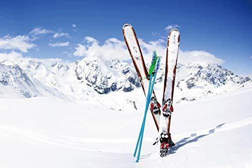 Yeele 6x4ft Winter Background for Photography Snowboard Alps White Snow Mountain Summit Ski Sport Backdrop Boy Kid Adult Portrait Photo Booth Shoot Studio Props Vinyl Wallpaper