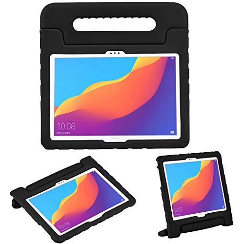 iMoshion kompatibel mit Huawei MediaPad T5 10.1 inch Hülle – Tablethülle für Kinder – Tablet Kids Hülle in Schwarz mit Griff & Ständer [Robust, Handgriffig, Stoßfest]
