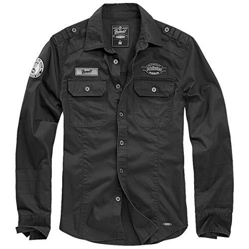 Brandit Luis Shirt Männer Langarmhemd schwarz M