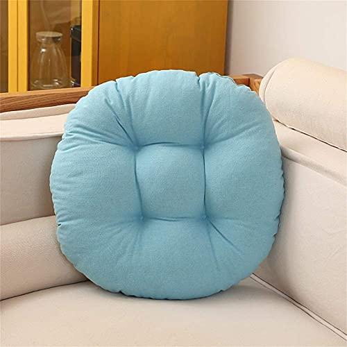 erddcbb Cojines Redondos de algodón para sillas de Oficina, Cojines de Asiento cómodos y Gruesos Cojines de Tatami Cojín de Suelo Interior y Exterior fácil de Limpiar