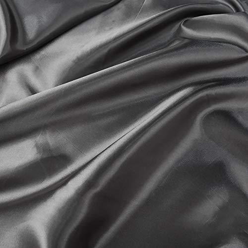 MUYUNXI Tela De Raso Forro De Tela para Vestidos De Novias Fundas Artesanas Vestidos Blusas Ropa Interior 150 Cm De Ancho Vendido por Metro(Color:Gris Oscuro)